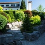Steintreppe Aussenbereich Hotel Mohren