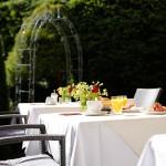 Hotel Frühstück Garten Allgäu Wangen