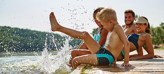 Badespaß Sommer Urlaub Allgäu Bodensee